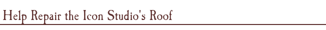 Help Repair the Icon Studio's Roof